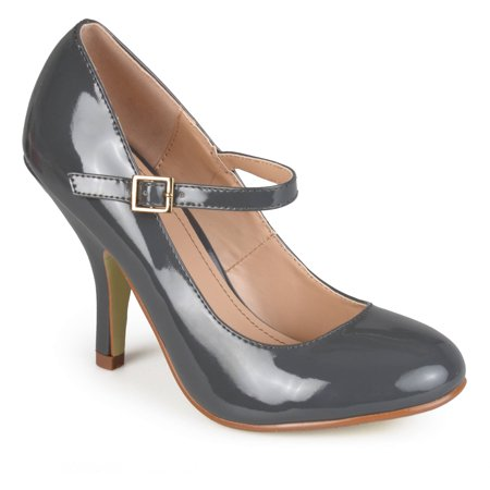 Women's Patent Round Toe Mary Jane Pumps