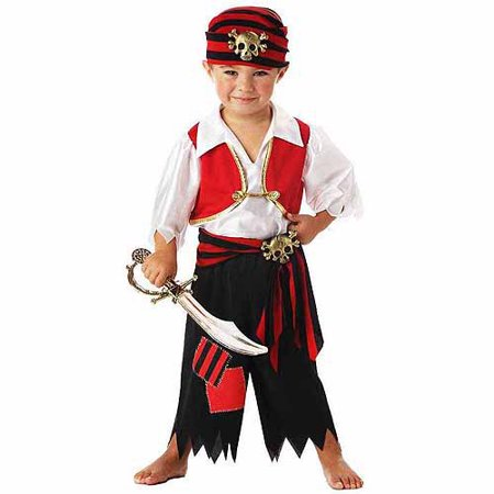 Ahoy Matey! Pirate Toddler Halloween Costume - Toddlers Halloween Costumes