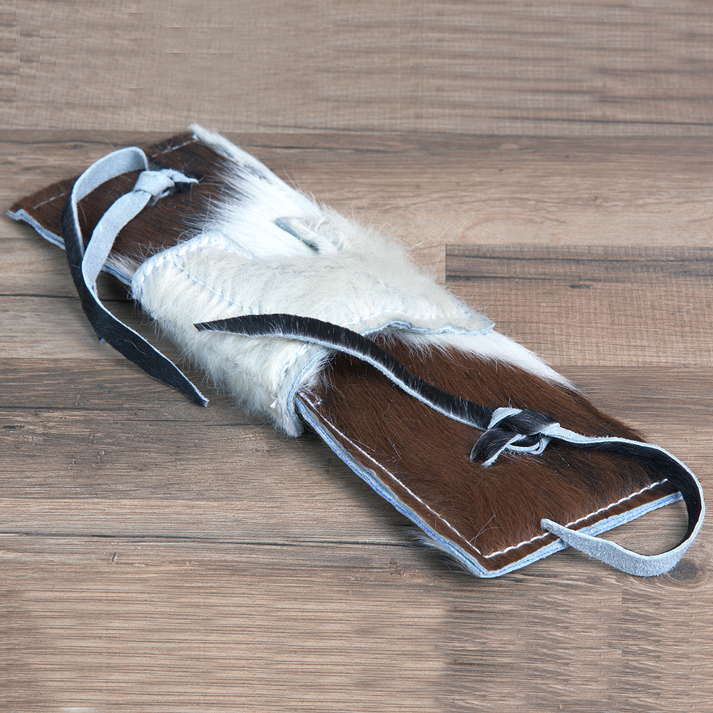 14 x 4.5 HILASON HAIR ON COWHIDE LEATHER SUPER PRO RODEO EQUIPMENT BULL ROPE PAD by