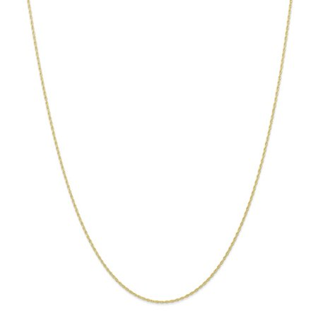 Additional Chain - 10k Yellow Gold 24in Carded Cable Rope Necklace Chain