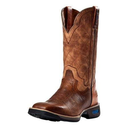 02b3405a0f2 Cinch Work Boots Mens WRX Leather Rubber Sole Cognac WXM115