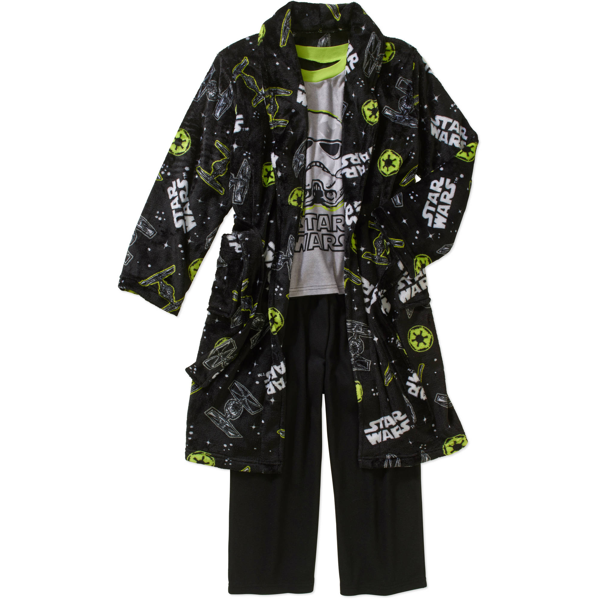 Boys' Licensed 3 Piece Robe and Pajama Sleepwear Gift Set, Available in 4 Characters