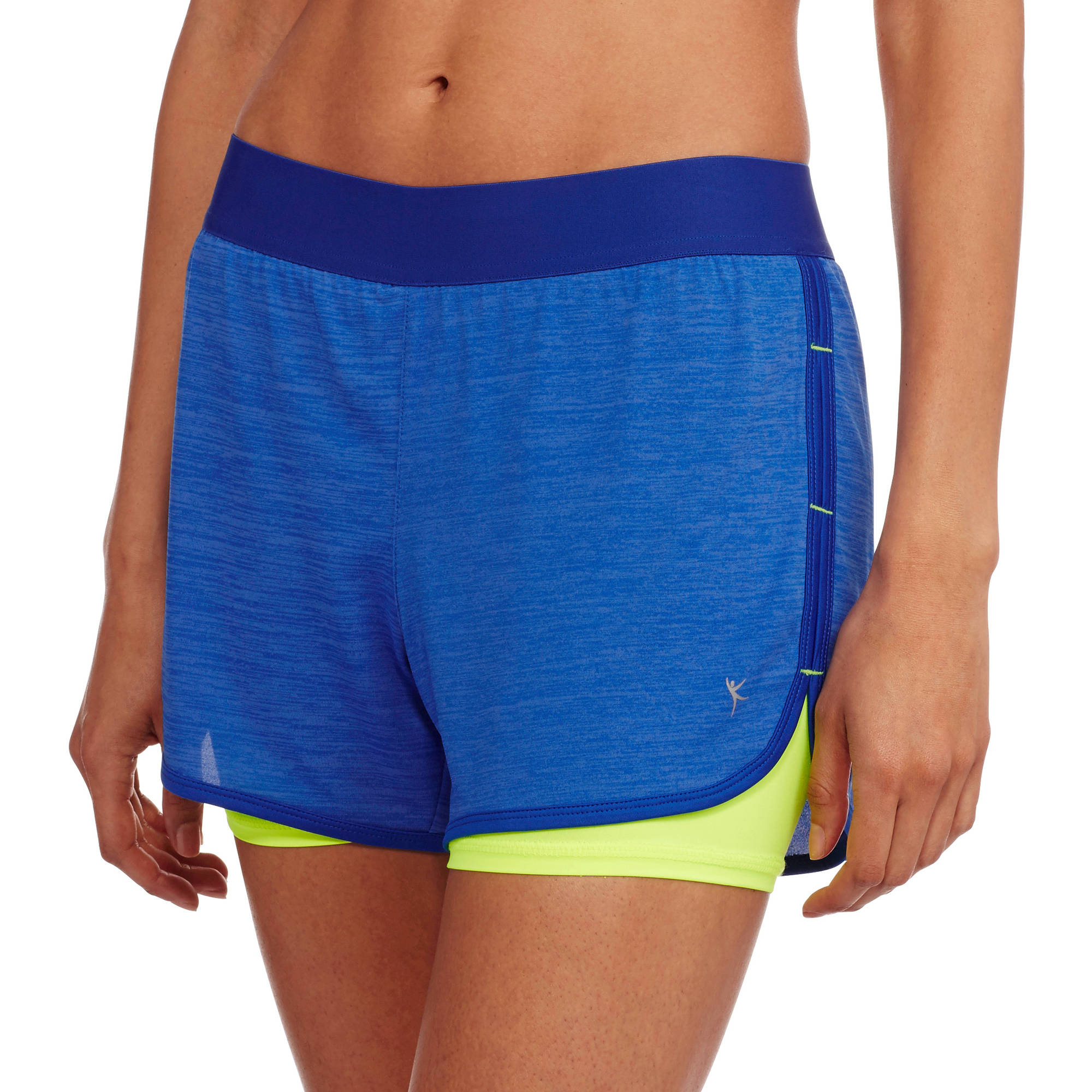 Danskin Now Women's Active 2fer Knit Running Shorts