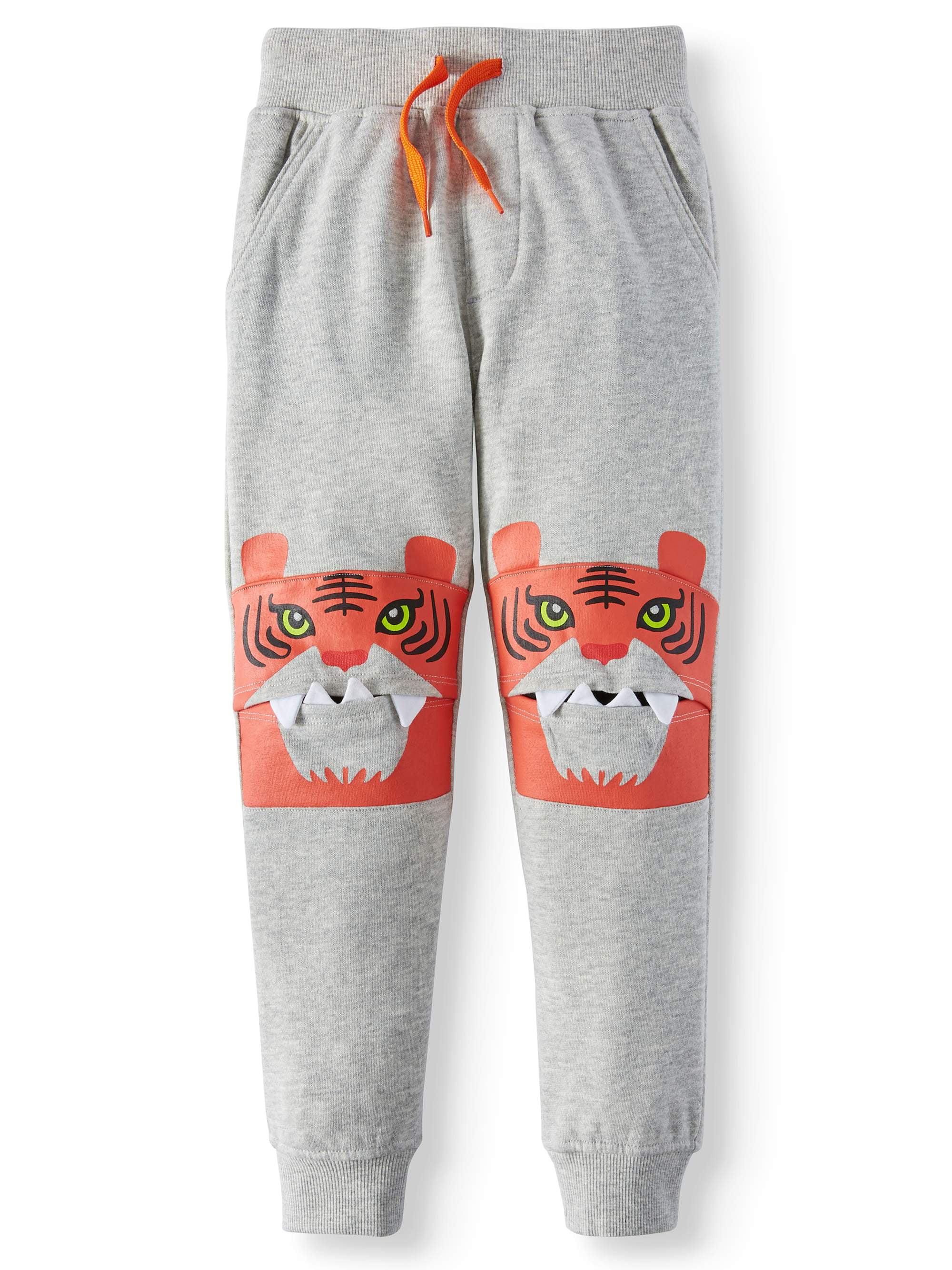 seven oaks critter jogger pants with 3-d details (little boy)