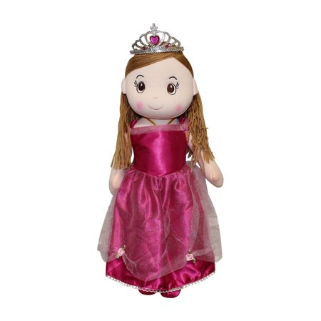 Master Toys Princess Rag Doll with Tiara - Pink - Tiara Toys
