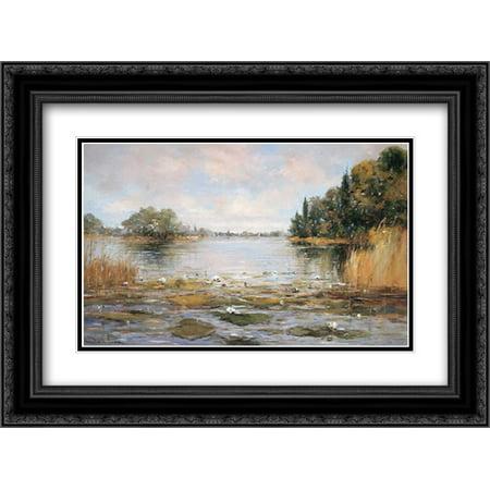 - Aan de Waterkant III 2x Matted 24x18 Black Ornate Framed Art Print by De Haan, Rob