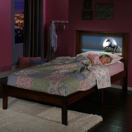 Lifetime Beds Twin Bed Changeable Back Lit Led Headboard Imagery