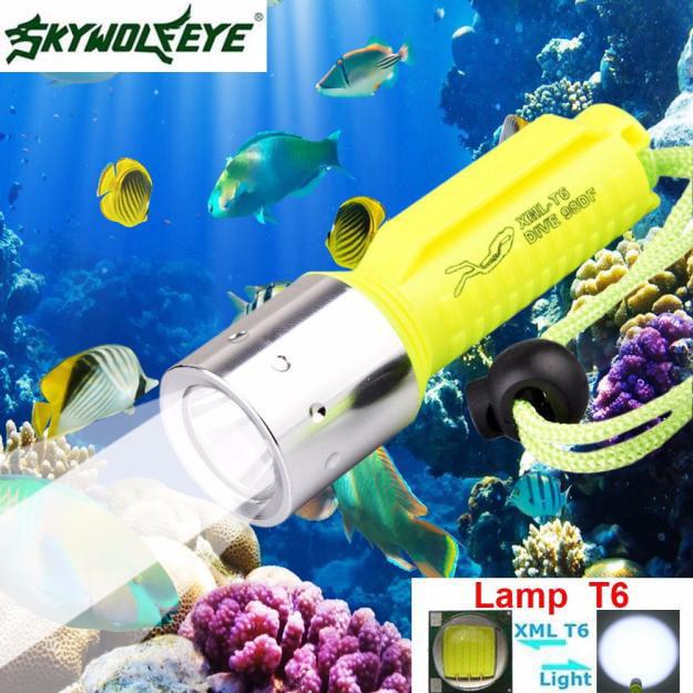 3500LM XM-L T6 LED Underwater 130M Scuba Diving Torch 18650