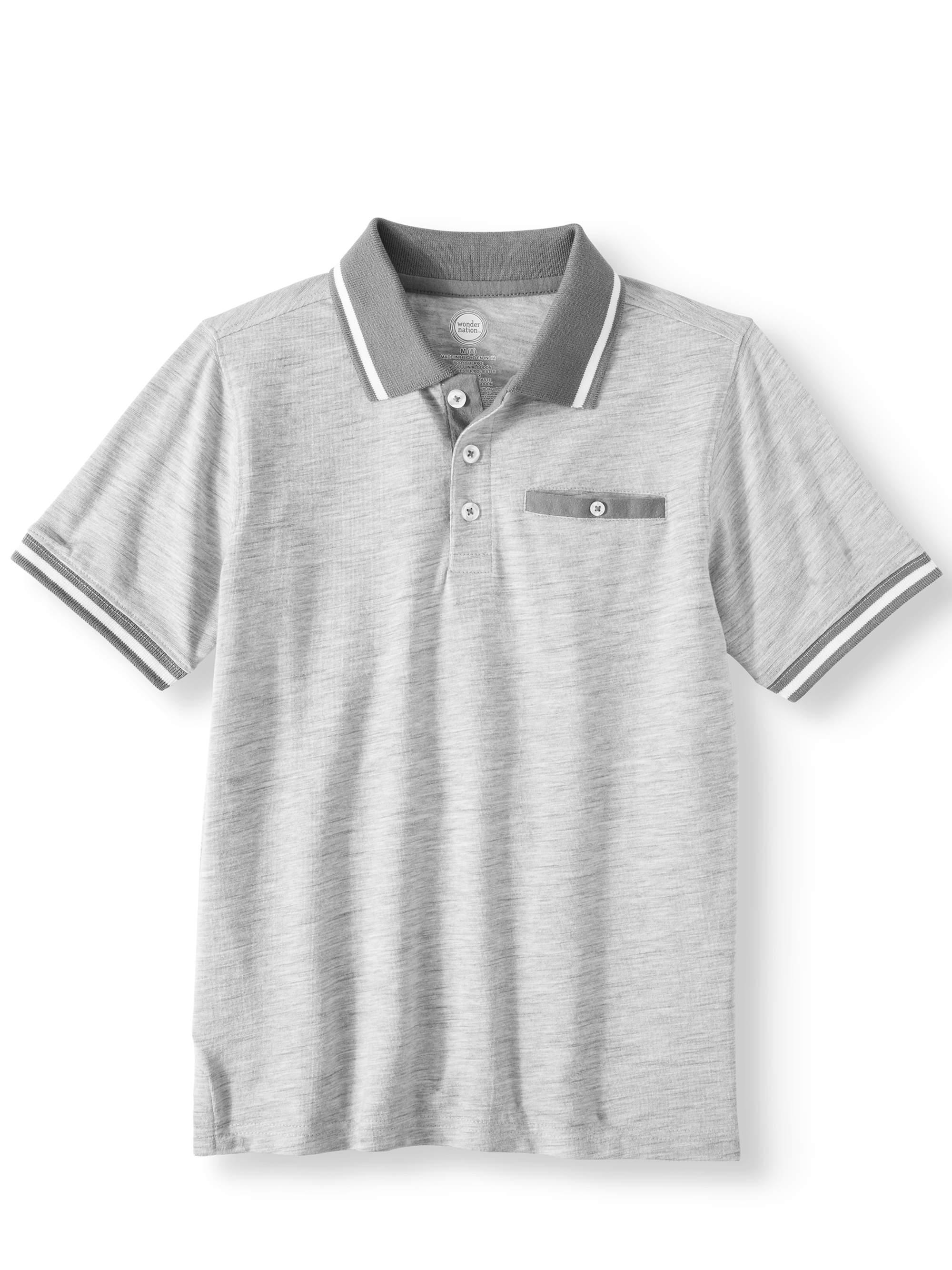Short Sleeve Stretch Jersey Polo (Little Boys & Big Boys)