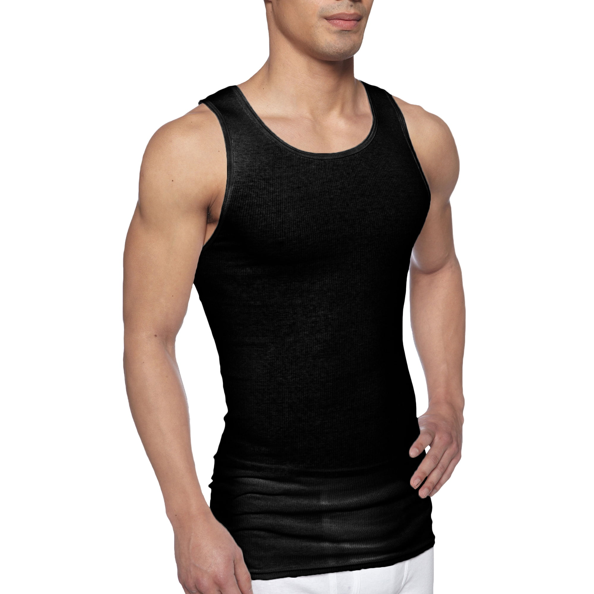 Hering Men/'s ribbed 100/% cotton Muscle workout gym fitness undershirt tank top