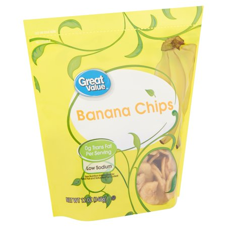 Great Value Banana Chips, 12 Oz.