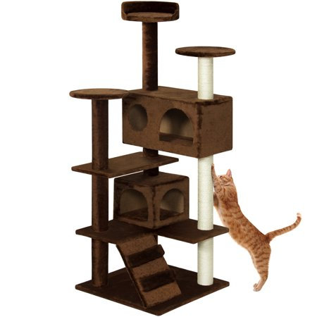 Best Choice Products 53  Multi Level Cat Tree Scratcher Condo Tower  Brown