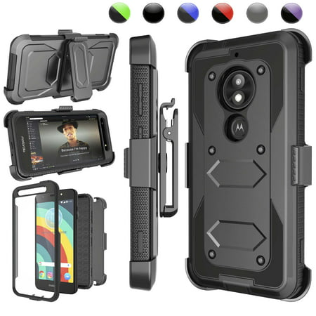 "Njjex Case For 5.2"" Moto E5 Play / Moto E5 Cruise, Phone Case [Built-in Screen Protector] & Kickstand & Holster Belt Clip [Heavy Duty] Carrying Armor Case For Motorola E5 Play (XT1921) 2018"