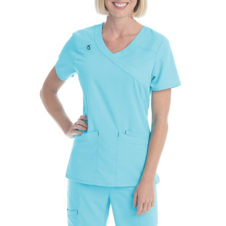 8a9d00d6c40 UPC 724841482817 product image for SCRUBSTAR Women's Premium Collection  Rayon Mock Wrap Scrub Top | upcitemdb ...