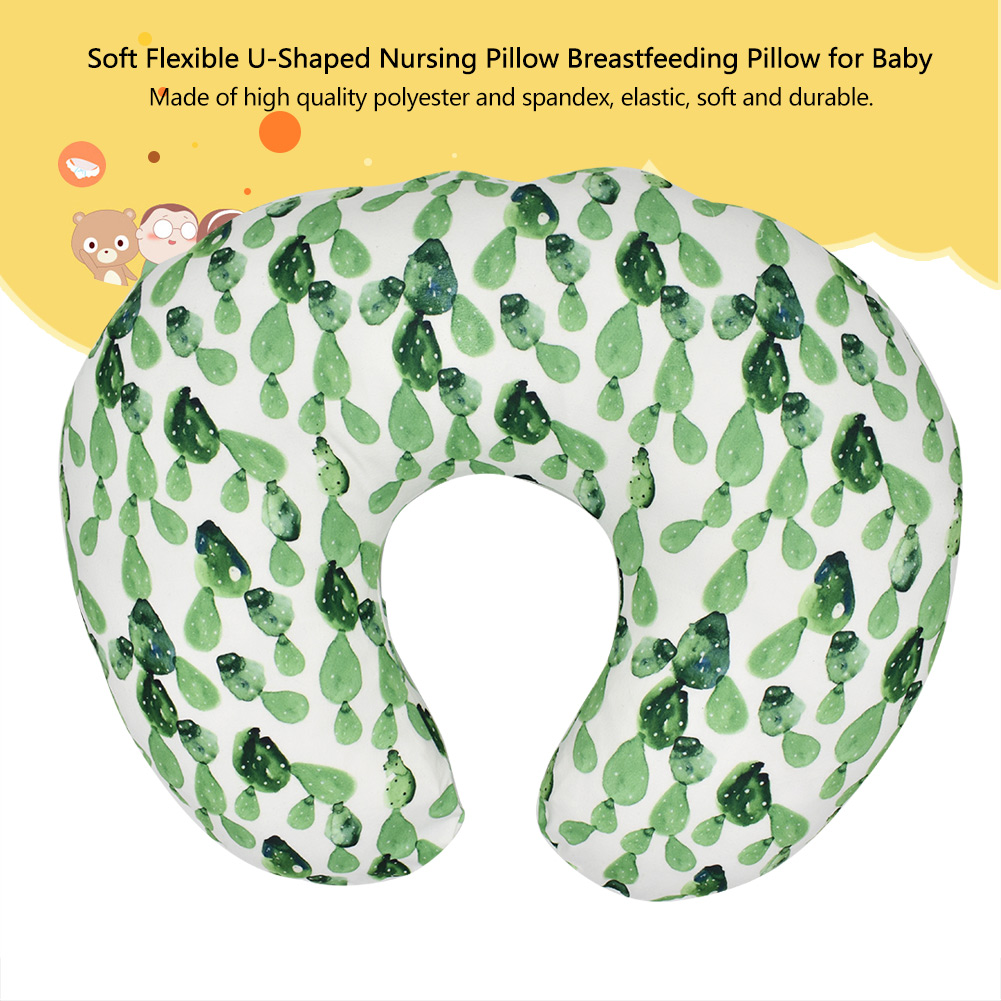 Breastfeeding Pillow Cover Soft Flexible U-Shaped Nursing Feeding Pillowcase Breastfeeding Pillow Case for Baby #4