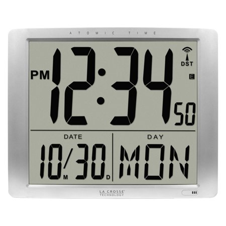 La Crosse Technology 7 in. Extra Large Atomic Digital Wall Clock