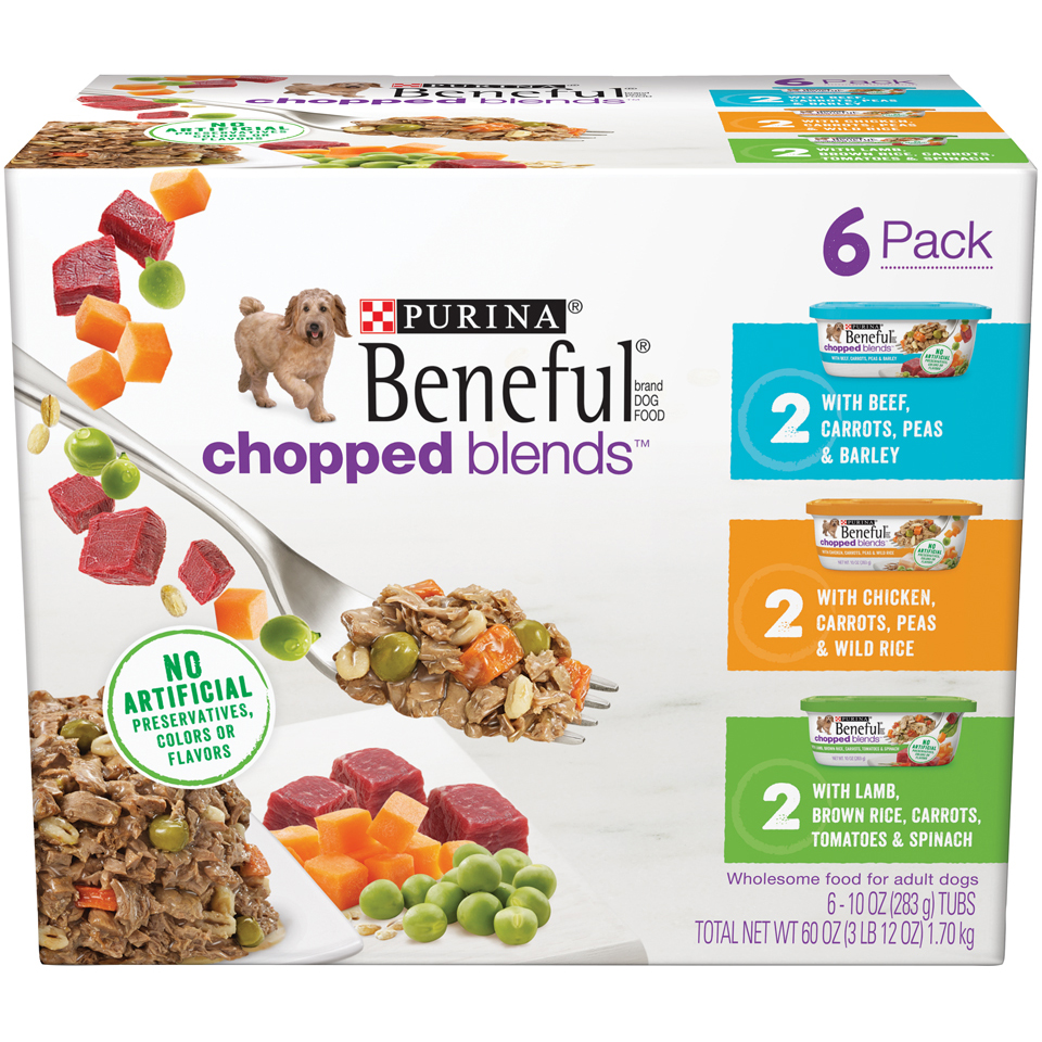 Purina Beneful Wet Dog Food Variety Pack; Chopped Blends - (24) 10 oz. Tubs