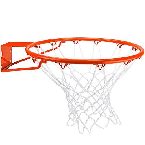 "Crown Sporting Goods 18"" Steel Basketball Rim, Free All-Weather Nylon Net"