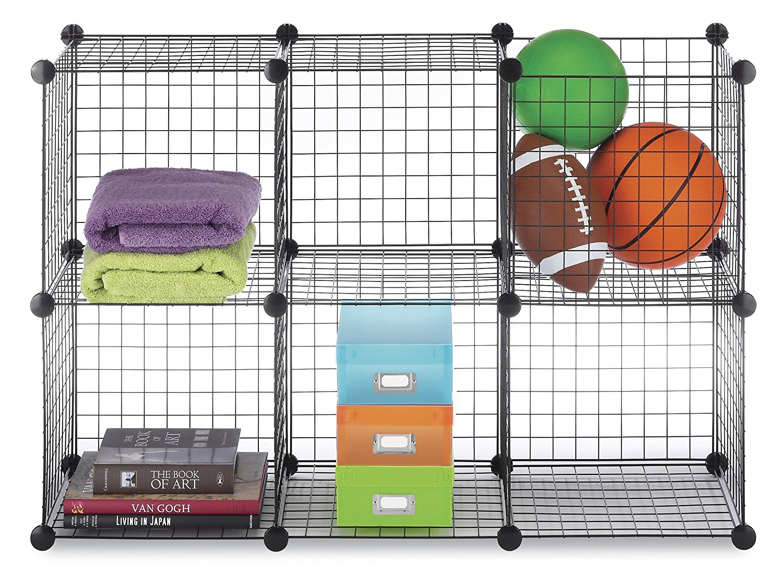 Charming Whitmor Storage Cubes Black Set Of 6   Walmart.com
