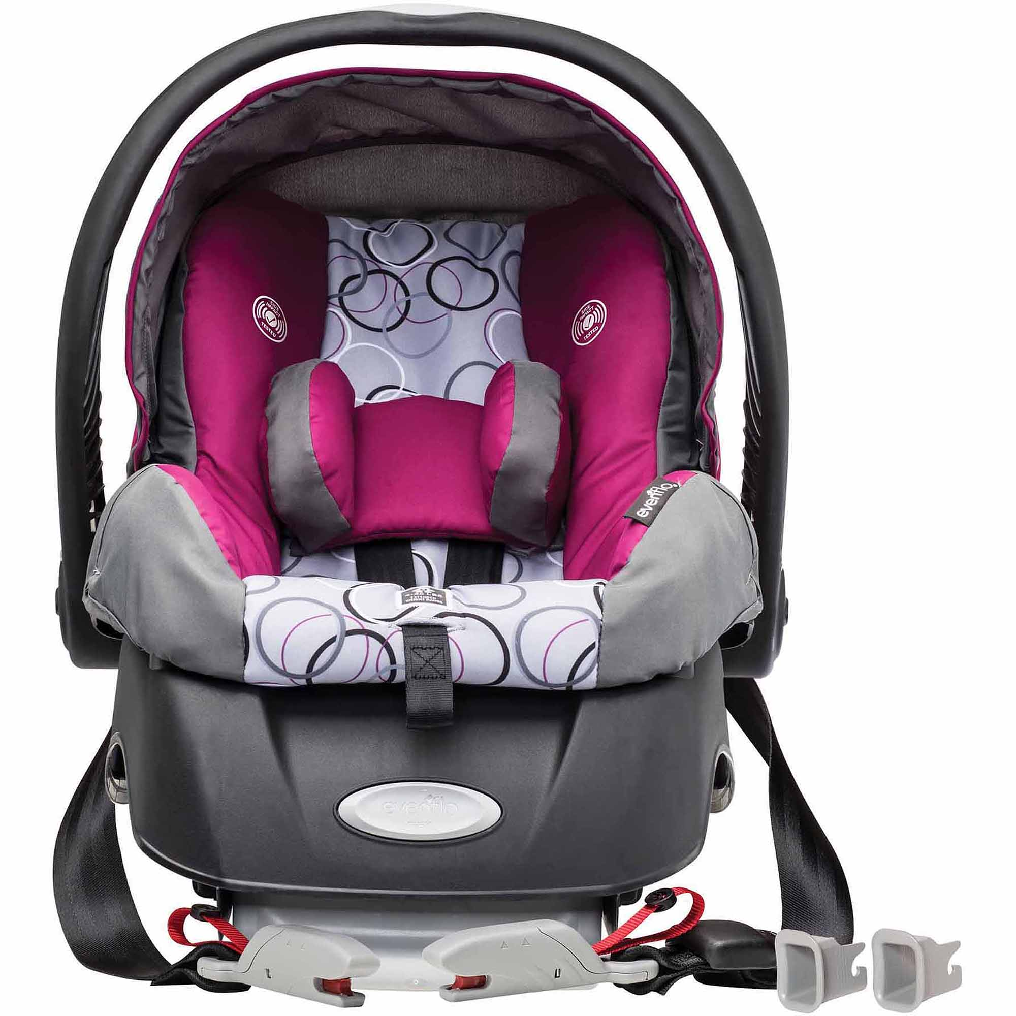 evenflo embrace select infant car seat with sure safe installation evangeline ebay. Black Bedroom Furniture Sets. Home Design Ideas