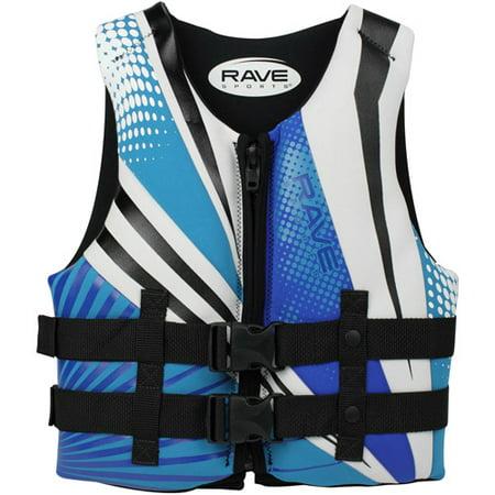 Rave Sport Youth Neo Life Vest  Blue