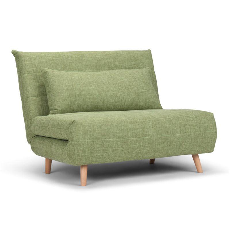 Simpli Home Asher Roll-Out Futon Chair in Denim Blue - Walmart.com