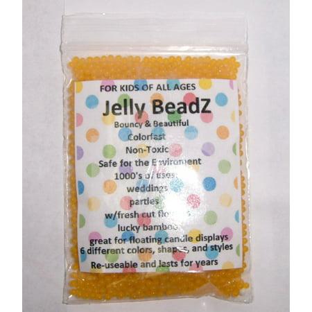 Gold Water Beads (Jelly BeadZ® 8 Ounce Golden Yellow water)