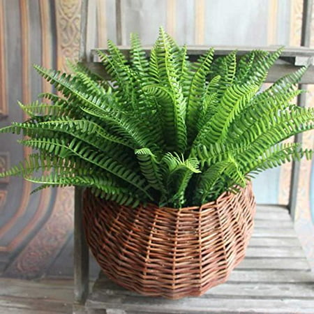 Boston Fern Artificial Plant, Green