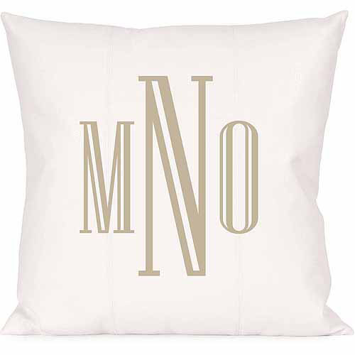 Personalized Raised Serif Monogram Pillow