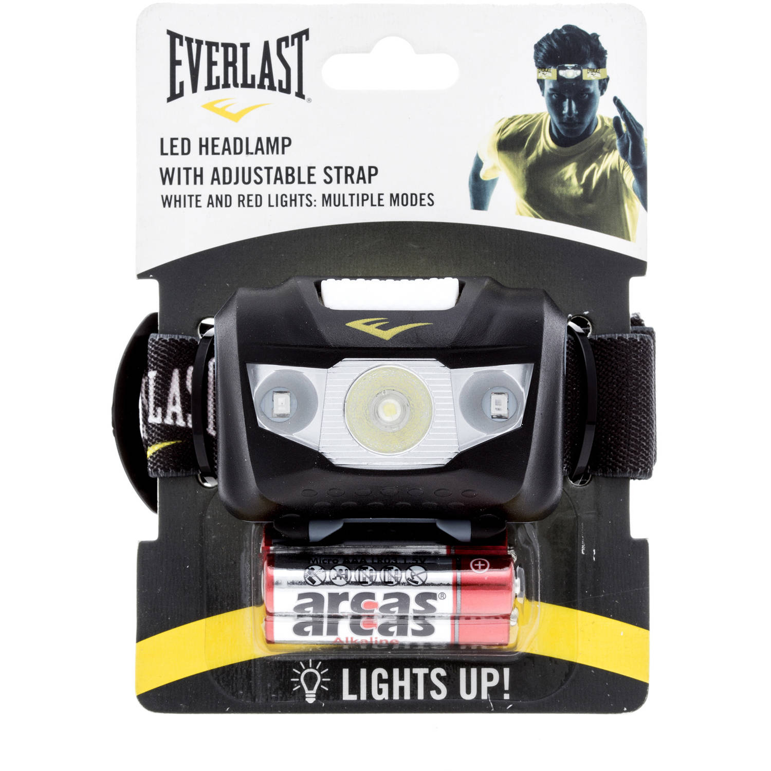 Everlast Multi-Flash Mode LED Adjustable Headlamp, Multiple Colors