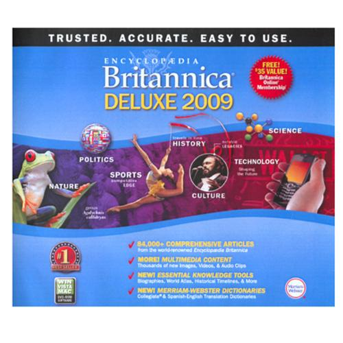 Encyclopedia Britannica '09 Deluxe for Windows and Mac