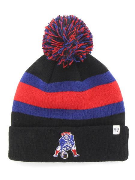 df4ecab33 ... coupon code for new england patriots 47 brand black breakaway retro  1965 poofball beanie hat cap