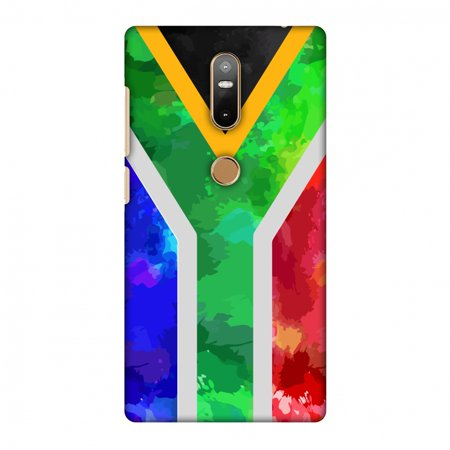 Lenovo Phab 2 Plus Case, Premium Handcrafted Printed Designer Hard Snap on Shell Case Back Cover with Screen Cleaning Kit for Lenovo Phab 2 Plus - South Africa flag-