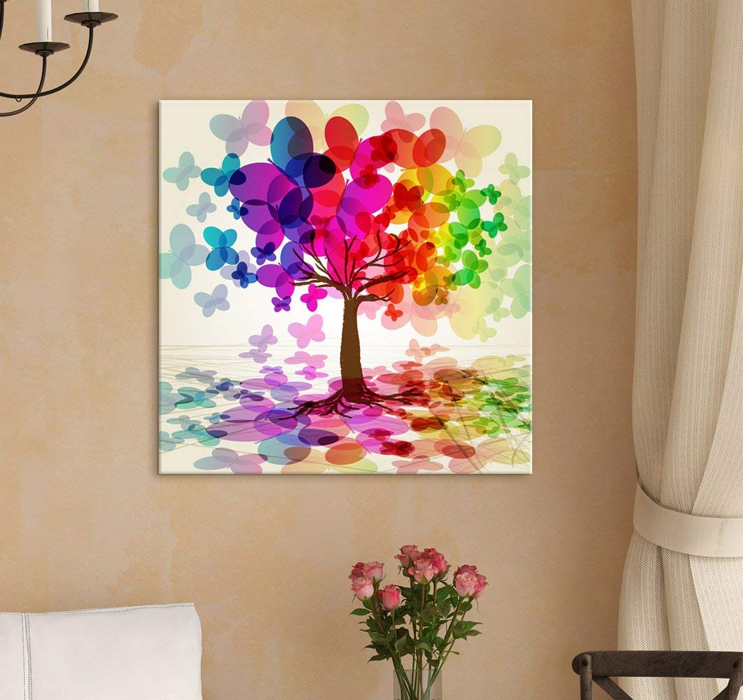 LOVE TREE CANVAS PRINT PICTURE WALL ART HOME DECOR MODERN DESIGN FREE DELIVERY