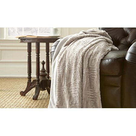 Amrapur Microfiber Luxury Throw Blanket - Faux Snow Blanket