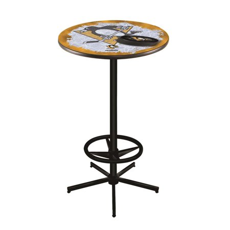Pittsburgh Penguins Inch High Inch Top Black L Pub Table - 36 high pub table