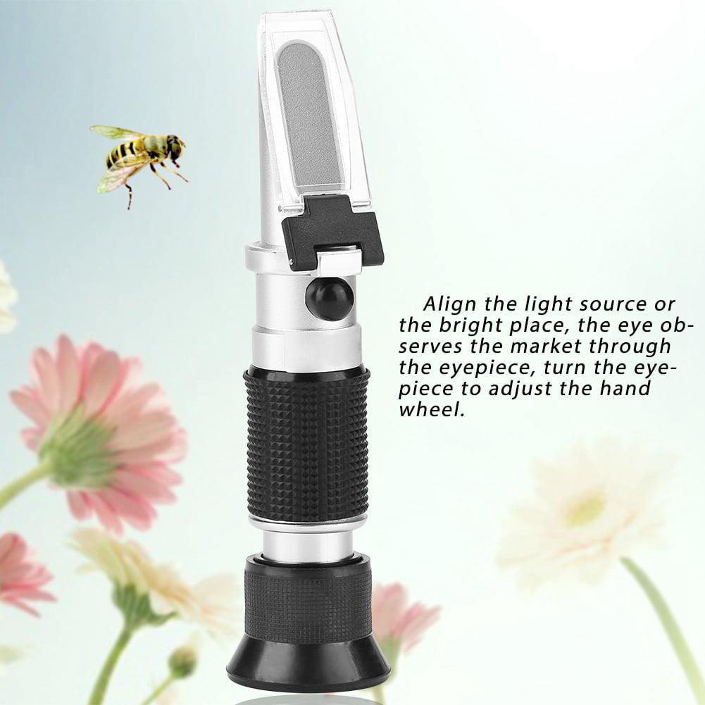 Portable Bee Tools R/éfractom/ètre de miel 58-90/% M/ètre de concentration de miel M/ètre de concentration de miel teneur en sucre R/éfractom/ètre de miel