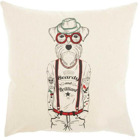 Nourison Trendy, Hip, New Age Natural Decorative Throw Pillow , 18