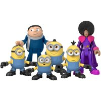 Imaginext Minions Figure Pack, set of 6 film character figures for preschool kids ages 3-8 years
