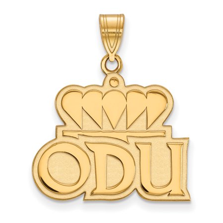 Roy Rose Jewelry Sterling Silver With 14K Yellow Gold Plated Logoart Old Dominion University Large Pendant