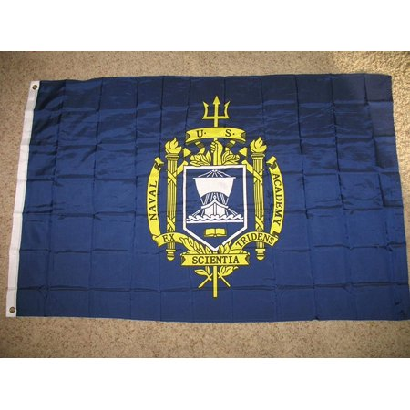 3X5 Us Naval Academy Flag 3'X5' Banner Brass Grommets (Licensed By Navy), Size: 3'x5' By Decorative Flag,USA ()