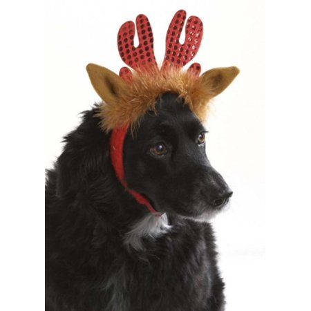 9 5 Quot Whimsical Red Glittered Reindeer Antlers Pet Animal