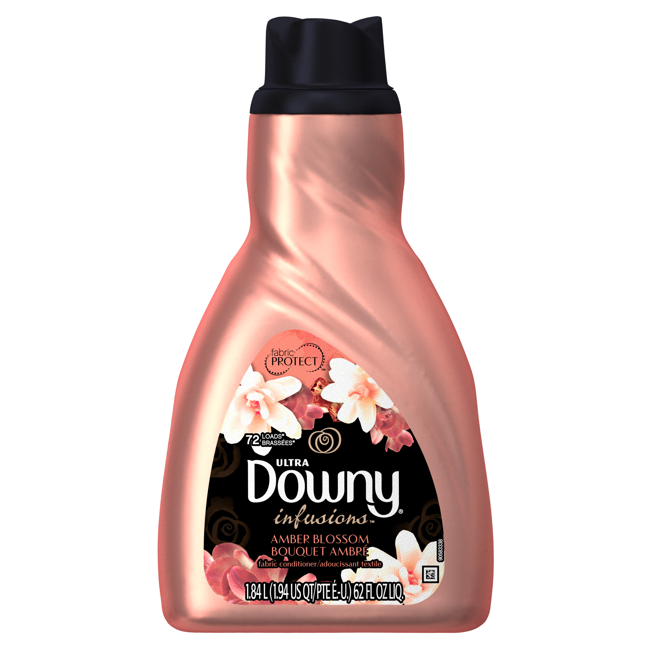 Ultra Downy Infusions Amber Blossom Liquid Fabric Softener and Conditioner, 62 FL Oz