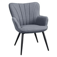 Deals on SmileMart Upholstered Fabric Modern Accent Chair