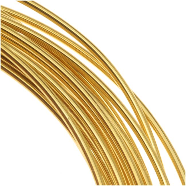 Brass German Bead Wire Craft Wire 18 Gauge/1mm (3 Meters / 9.8 Feet)