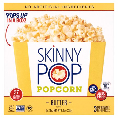 Skinny Pop Popcorn Bowl Bttr Micro 3,8.4 Oz (Pack Of 12) (Micro Popcorn)