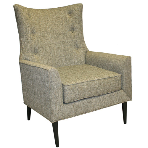 Life Style Collection Wakefield Mid Century Curved Wing Back Chair, Cordova Mineral
