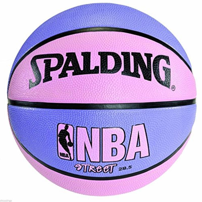 Spalding Pink & Purple NBA Street Basketball 28.5 Women Girl Outdoor Size 6 Ball