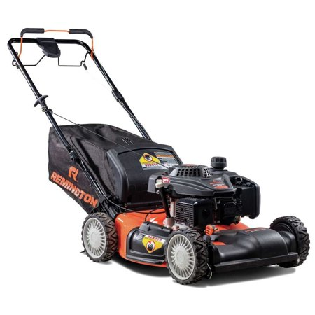 Remington 12A-K2M5883 RM410 Pioneer 21 in./ 159cc Gas All Wheel Drive Self Propelled Lawn Mower with Side Discharge, Mulching and Rear Bag