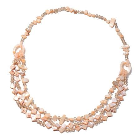 Peach Colored Shell Bead Elegant Fashion Stylish Necklace 34